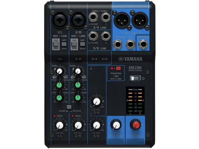 YAMAHA MG06 analogový mixážní pult dva mikrofonní vstup d