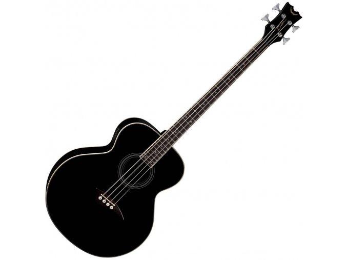 akustická baskytara černá ozvučení 4 struny