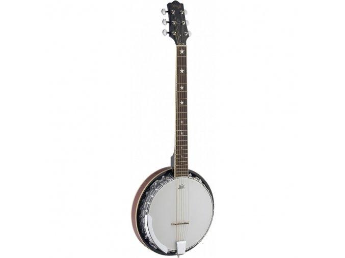 šestistrunné kytarové banjo STAGG kovoý odlitek