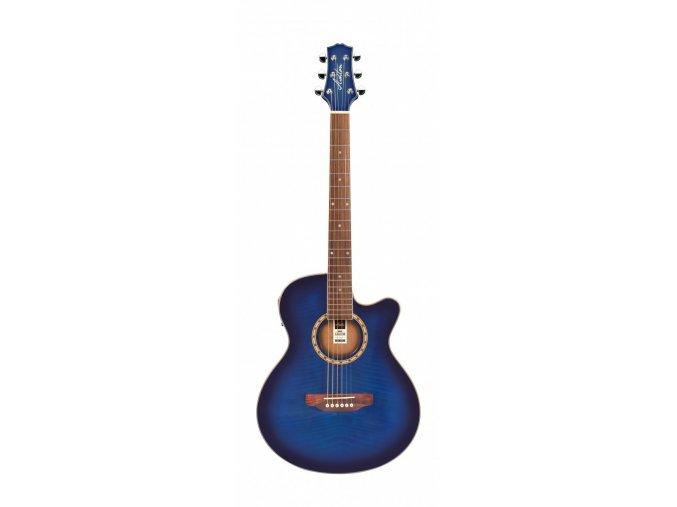 ashton sl29ceq tbb akustická kytara modrá ozvučená s vestavěnou ladičkou snímačem EQ