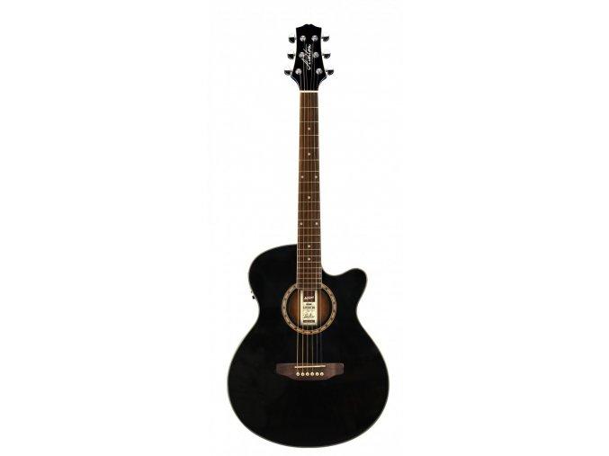 ashton sl29ceq tbb akustická kytara černá ozvučená s vestavěnou ladičkou snímačem EQ 1