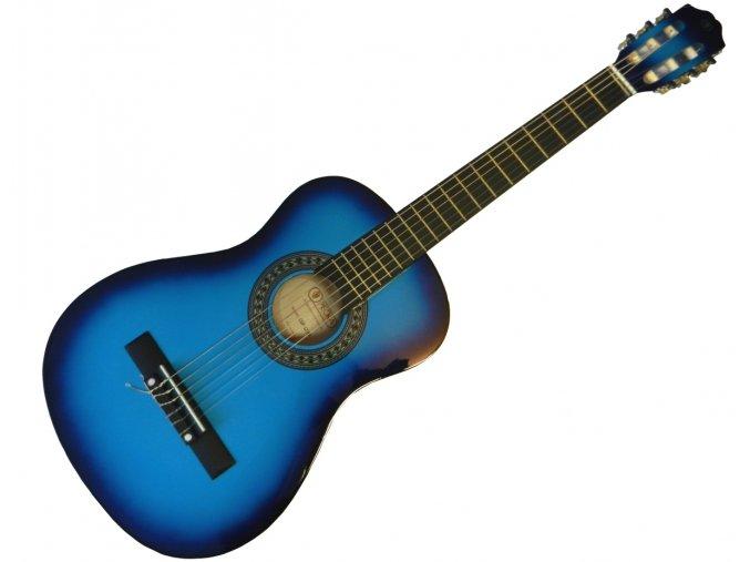 2500485 dětská 3 4 modrá kytara PECKA + obal zdarma