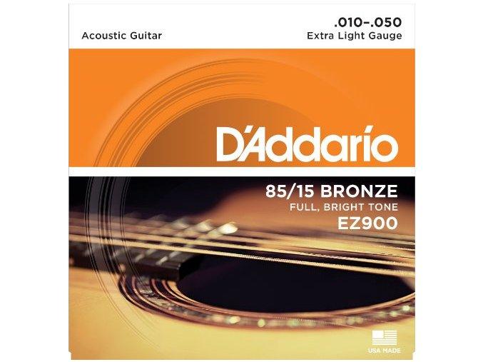 2100148 D'ADDARIO EZ900 struny kovové akustická kytara 010