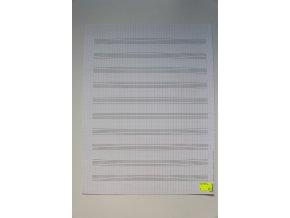 Notový papír 247,5 x 330 mm, 10 osnov,dvojlist