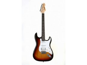 abx elektrická kytara strat sunburst