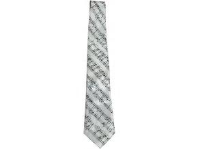 kravata noty bílá