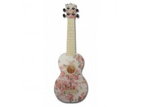 2500079audiana sopranove ukulele kvetinovy vzor wh