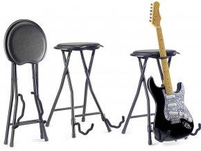 1000598 STAGG GIS 300 stolička s kytarovým stojanem 1