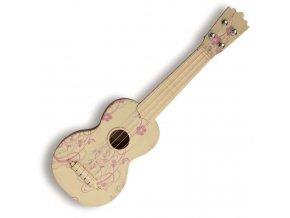 PASADENA WU 21F5 WH sopránové ukulele květiny