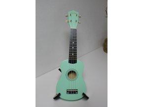 FZone-002 GR tyrkysové sopránové ukulele + trsátko a struna zdarma