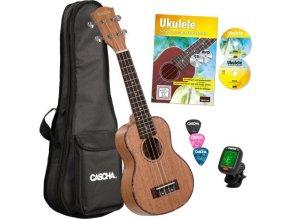 2500074 casha hh2027 ukulele sopránové obal ladička trsátka publikace cd