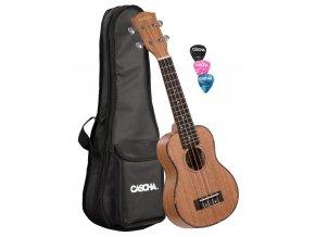 2500074 casha hh2027 ukulele sopránové obal ladička trsátka publikace cd 7