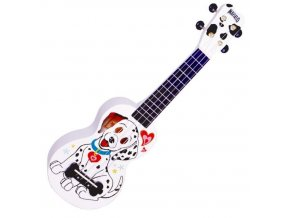 Mahalo sopránové ukulele dalmatian white obal zdarma 1