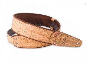 2300111 RightOnStraps kytarový řemen vzor korek 6cm šíře zásobník na trsátko