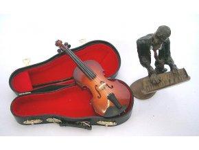 3400013 dárek pro muzikanta miniatura housle v kufříku