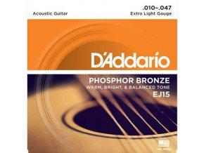 2100036 daddario ej15 struny pro akustickou kytaru phosphor bronze 010 047