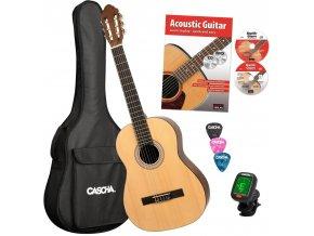 2500106 CASCHA klasická kytara zdarma obal ladička CD DVD trsátka publikace