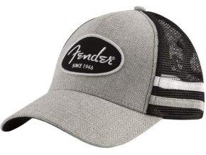 3400090 čepice kšiltovka šedá fender core trucker cap with side stripes