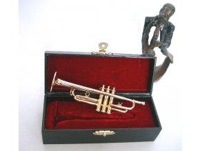 3400001 dárek pro muzikanta miniatura trubky v kufříku
