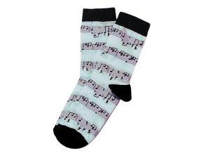 3400113 ponožky s motivem notového zápisu