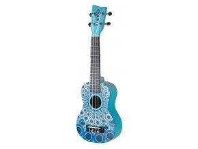 GEWA ukulele světle modrá mandala