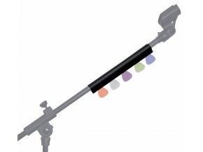 držák zásobník trsátek na mikrofonní stojan včetně trsátek