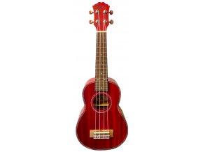 2500134 fzone fzu06 rd ukulele sopránové červené dřevo a