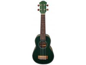 2500133 fzone fzu06 rd ukulele sopránové tmavě zelené dřevo a