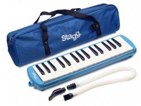klávesová harmonika Melodica 32 kláves modrá