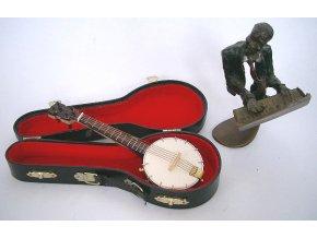 miniatura banjo v kufříku