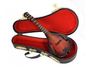 miniatura mandolíny v kufříku 14cm