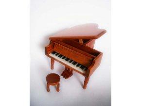 3400009 dárek pro muzikanta miniatura klavíru křídla se stoličkou