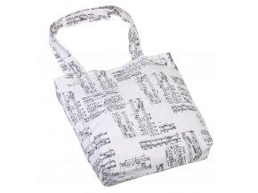 látková taška s hudebním potiskem notruční výroba