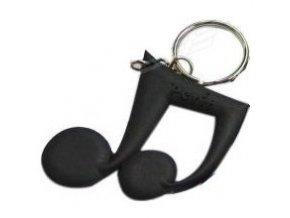 nota přívěšek na klíče nota černá