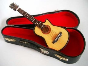 mini kytara western cutaway s kufrem