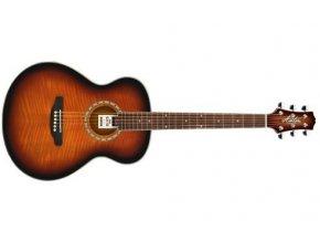 akustická kytara s menším tělěm ashton sl29 tsb trsátka zdarma