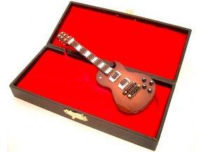 dárek pro muzikanta miniatura elektrická kytara model LP v kufříku