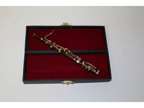 dárek pro muzikanta miniatura fagot dřevěný v kufříku