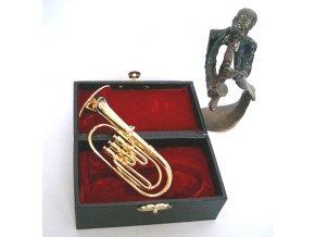 dárek pro muzikanta miniatura tuba v kufříku