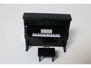 dárek pro klavíristu miniatura pianina se stoličkou a kufříkem