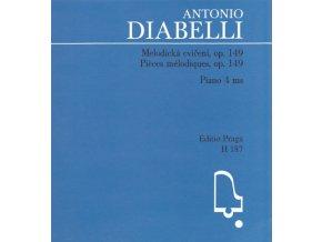 antonio diabelli melodická cvičení op.149 klavír pro čtyři ruce