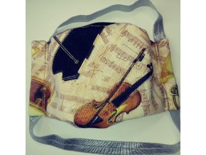 rouška noty housle