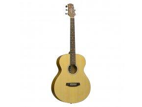akusticka kytara kovové struny menší tělo sl20 přírodní b
