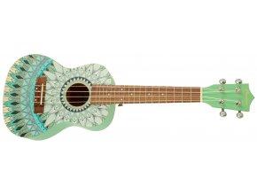 ukulele sopránové s krásným vzorem bamboo jade 23