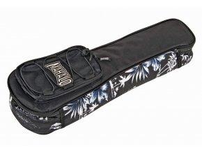 Mahalo obal na ukulele černý s bílým motivem po stranách ab