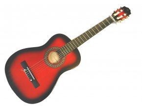 klasická kytara červená pecka cgp 34 rb obal zdarma