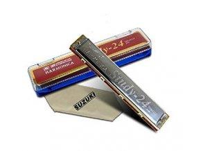 foukací harmonika pro začátečníky suzuki study 24 g super kvalita
