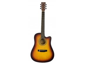 BACH akustická kytara širší krk 48 mm kovové struny