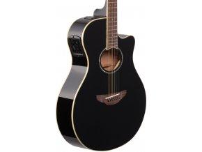 APX600 elektro akustická kytara černá a