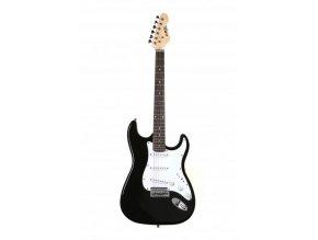 abx elektrická kytara strat černý 3x single